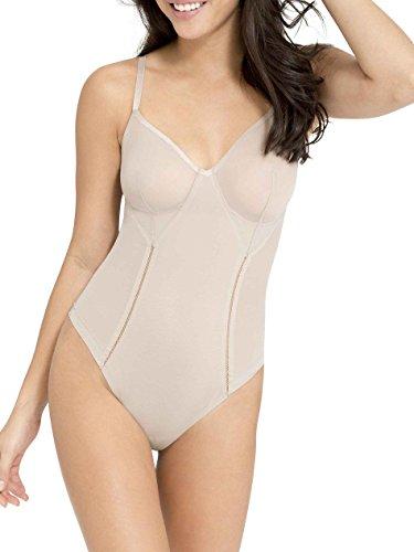 Spanx Damen Haute Contour Nouveau Thong Bodysuit Formender Body, Beige(SandcastleSandcastle), 34 (Herstellergröße: S) - Contour Thong