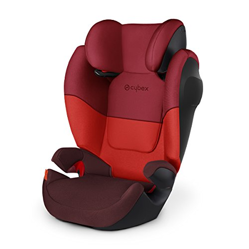 Cybex Silver Solution M SL, Autositz Gruppe 2/3 (15-36 kg), ohne Isofix, Kollektion 2018, Rumba Red