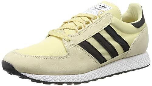 adidas Forest Grove, Scarpe da Ginnastica Uomo, Giallo Easy Yellow/Core Black/Ftwr White, 46 EU