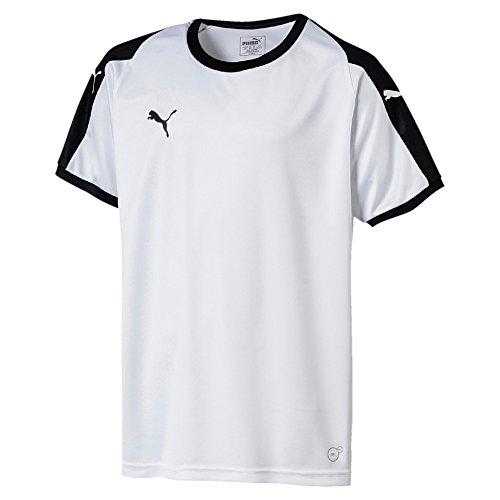 Puma Kinder Liga Jersey Jr T-Shirt, White Black, 128 (Liga Jersey Fußball)
