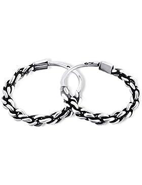 SL-Silver Ohrringe Creolen Balidesign gedreht 925 Silber