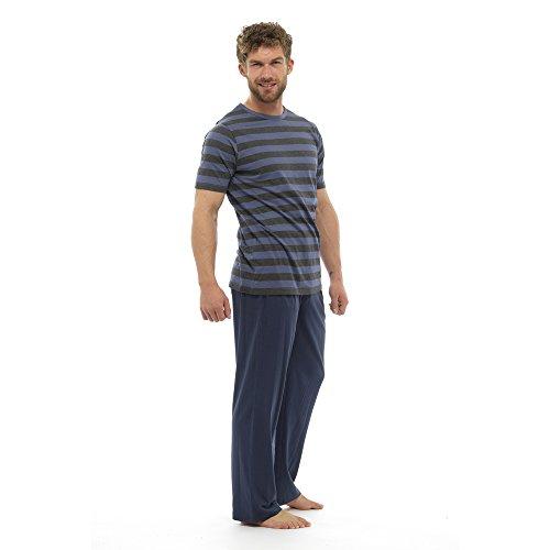 Herren Schlafanzug Pyjama-Set .Nightwear Sleepwear. Loungewear. DarkBlue/Grey with Regatta socks