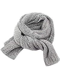 Bufandas infantiles, bufanda salvaje casual de chenille color sólido