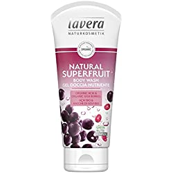 Lavera, bagnoschiuma Natural Superfruth, vegano, biologico per la cura della pelle, cosmetici naturali e innovativi, 200 ml