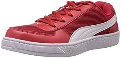 Puma Boy's Contest Lite Jr DP Red and White Boat Shoes Shoes - 13C UK
