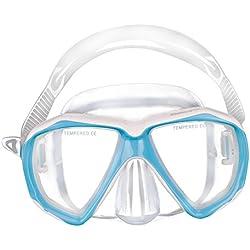 YJZQ Masque de Plongée Enfant Lunette Natation Anti-éclaboussures Masque Verre pour Nager Masque Plongée Non Tuba Fille Garçon 5-10 Ans