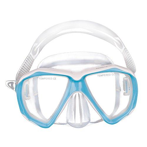 Kinder Schwimmbrille Taucherbrille UV Schutz & Anti-Fog Schwimmen Brille Schutzbrillen für Mädchen und Jungen, Verstellbares Silikonband, Blau, Einheitsgröße