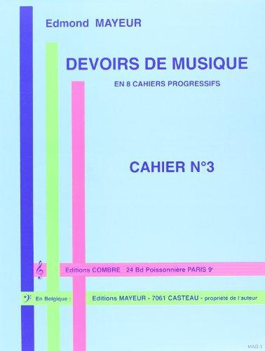 Devoirs de musique cahier 3