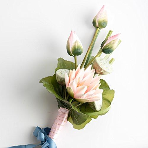 Xin Pang Künstliche Blumen Emulation Braut Strauß Blumen in der Hand kreative Hochzeit Rose Salon Blumenornamenten, Seerosen