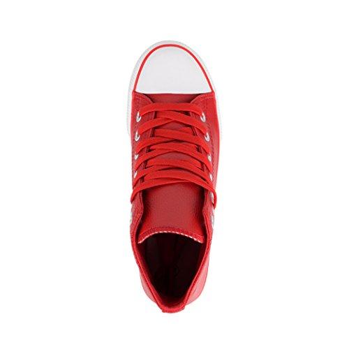 Elara Sneaker Donna Rot Kunstleder