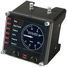 Logitech G Saitek Pro Flight - Panel de instrumentos, color negro