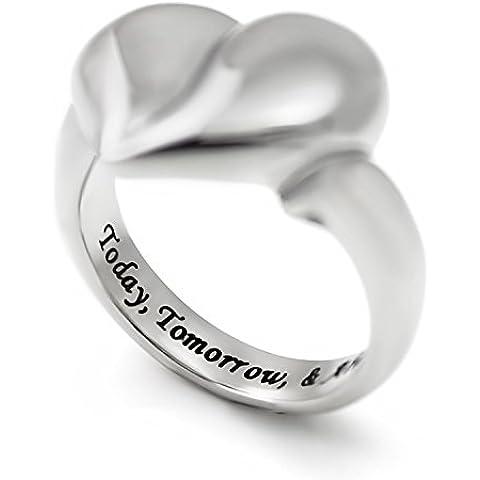 Anello a forma di cuore per fidanzata, anello, per coppie, Love-Anello