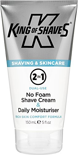 King of Shaves 2-in-1 Rasiercreme ohne Schaum & Feuchtigkeitscreme für jeden Tag, 150 ml