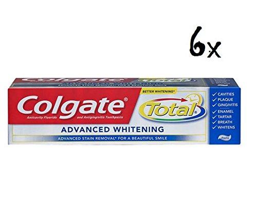 6x COLGATE Total Advanced Whitening 75ML Zahnpasta Zahncreme Zahn (Zahnpasta Colgate Whitening)