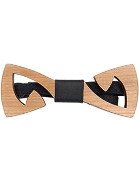 [Garantía de por vida] Corbatín de madera hecho a mano con motivo Z