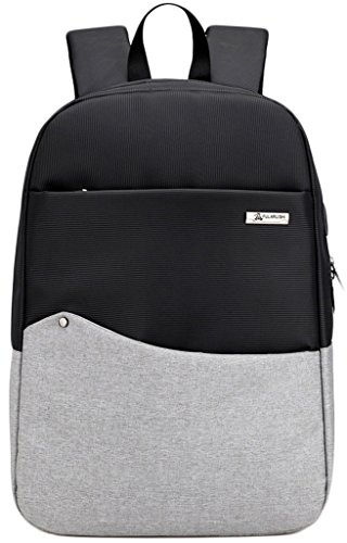 Imagen de newzcers 35l unisex oxford tela tela  de color de hombro de hombros bolsa con puerto de carga usb, se adapta a 12 16 pulgadas usb portátil escuela bookbag