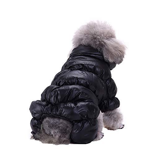 Amphia - Hunde Weste,Haustier Hund Herbst und Winter Kleidung vierbeinige Kleidung - Hund Kleidung Mantel für Kleine Hunde Winter Puppy Jacket warme Kleidung(Schwarz,L) (Die Katze Im Hut Weibliche Kostüm)