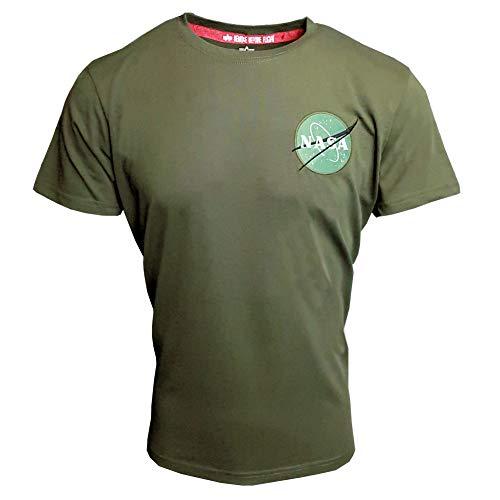 Alpha Industries Space Shuttle T-Shirt Dunkelgrün XXL - Industrie-designer