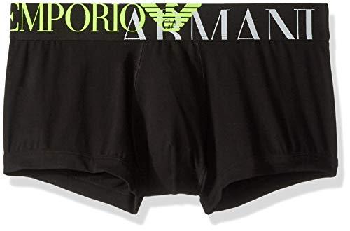 Emporio Armani Underwear Herren Men's Knit Trunk Badehose, Schwarz (Nero 00020), Medium