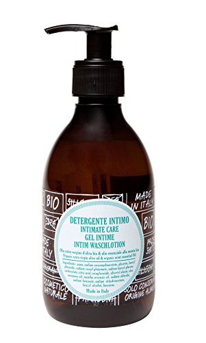 ricaricando, BIO Intim Waschlotion mit Bio Olivenöl und ätherischem Minzöl, zertifizierte Naturkosmetik, ohne Silikone, ohne Parabene, ohne EDTA, vegan, 300 ml -