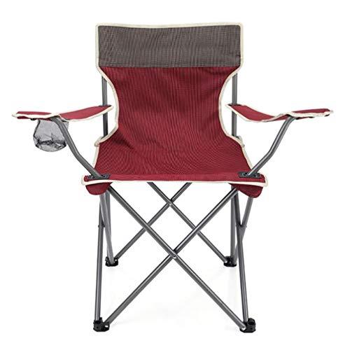 SZP Chaise Pliante extérieure, Chaise portative de Plage, Fauteuil de Chaise de pêche de Dossier, approprié aux Loisirs extérieurs, Voyage de Famille