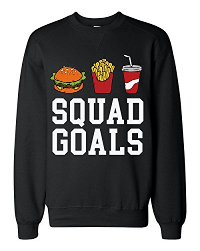 Finest Prints Squad Goals Junk Food Party Classic Sweatshirt
