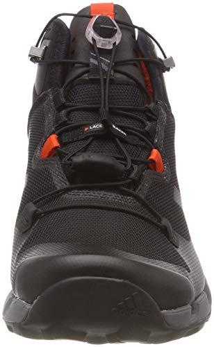 adidas Herren Terrex Fast Mid Gtx-Surround Wanderstiefel, Schwarz (Nero Negbas/Negbas/Grivis), 44 2/3 - 4