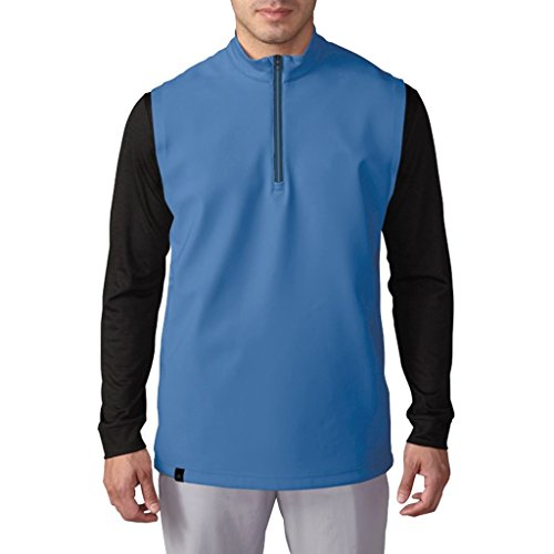 Adidas 2016 3-Stripes Climacool® 1/4 Zip Competition Vest Mens Golf Stretch Gilet Ray Blue XL -