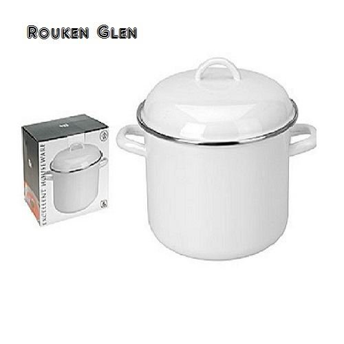 24cm-6l-cooking-pot-stainless-steel-enamel-white-soup-pan-electric-gas-halogen