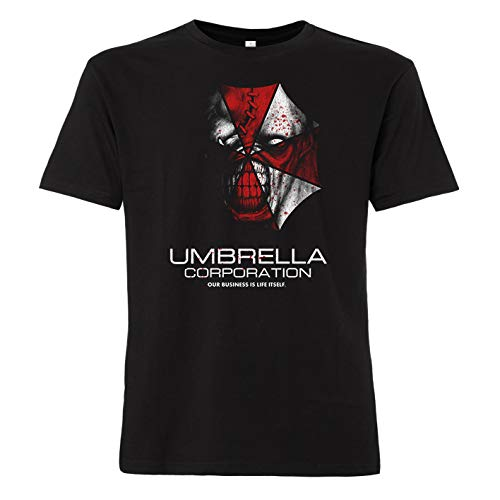 ShirtWorld - Umbrella Corporation Zombie - Herren T-Shirt Schwarz 2XL