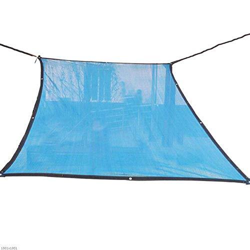GRW-Plane Schatten Net Plane Gartenbedarf Verschlüsselung Balkon Sukkulenten Sonnenschutz Atmungsaktive Isolierung Polyethylen (Farbe: Blau, Größe: 3x3m) Garten liefert ( Color : Blue , Size : 6x10M ) (10 X 10 X 6 Hundehütte)