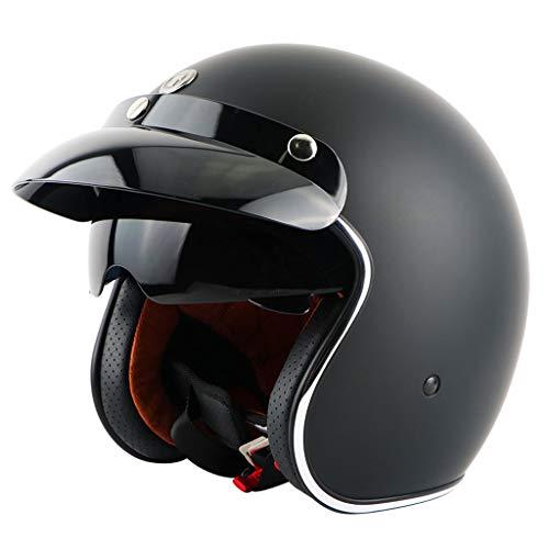 ZXW Vintage Helm Full Cover Motorrad Männer und Frauen Jahreszeiten Winter Windproof Sonnencreme Helm (Farbe : G, größe : L) - Motorrad-helm Abenteuer