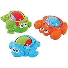 Playgo 3 Stück rollende Tiere Kleinkindspielzeug mit Rassel u Kugel
