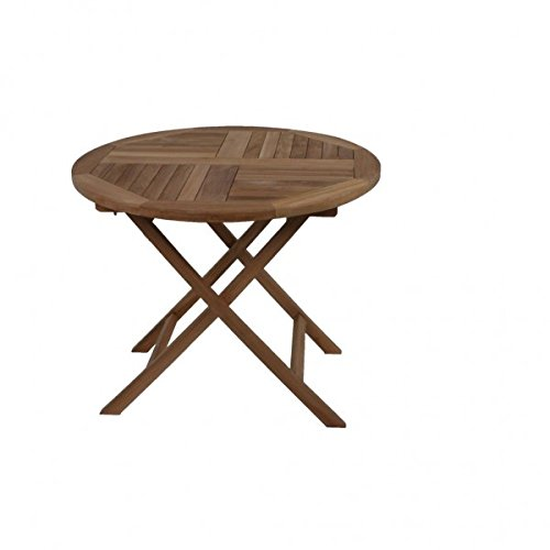 Teakholz-runder Kaffee Tisch (Gravidus runder Tisch aus Teakholz, ca. 90 cm Durchmesser)