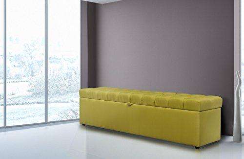 Bettbank CAPITON 165x40x40 für das Boxspringbett Welcon Rockstar in schwarz, grau, hellgrau, dunkelgrau, braun, beige, weiß, rot, blau, etc. Truhe / Sitzbank für das Schlafzimmer aufklappbar mit Stauraum