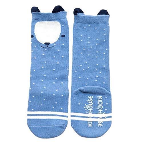 collectsound Baby Mädchen (0-24 Monate) Socken Blauer Bär 0-2 Jahre -