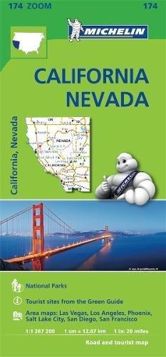 Mapa Zoom. California - Névada (Mapa Zoom Michelin) por MICHELIN