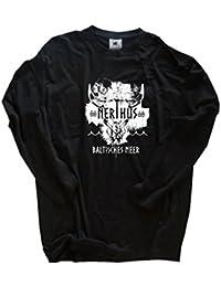 Original Viking Shirts | Nerthus-Baltisches Meer Wikinger | 100 % Baumwolle | bequem & hoher Tragekomfort