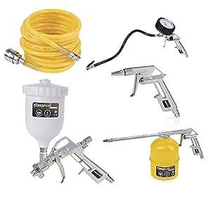 XXL Zubehör-Set für Druckluftkompressoren, Lackerpistole, Reifenfüller - POW AIR0020