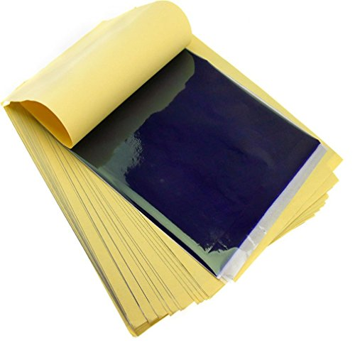 Emma 50 x Tattoo Thermische Carbon Schablone Transfer Paper Transparentpapier Kit Art Supply