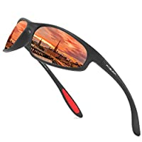 FAGUMA Polarized Sports Sunglasses for Men Women Cycling Driving Fishing 100% UV Protection