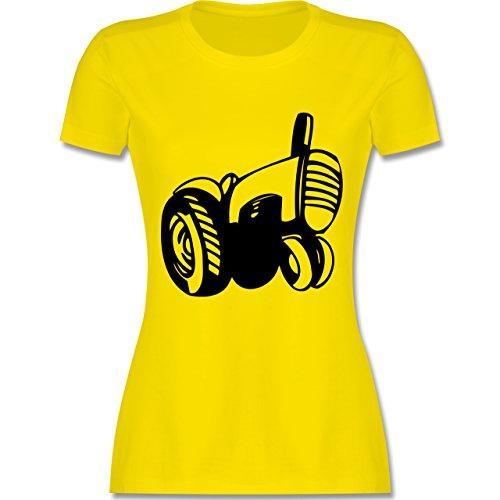 Andere Fahrzeuge - Traktor - tailliertes Premium T-Shirt mit Rundhalsausschnitt für Damen Lemon Gelb