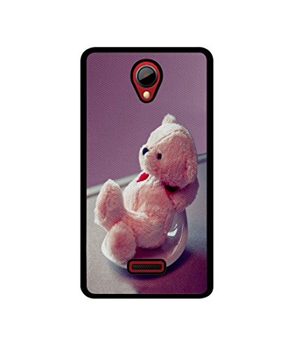 Casotec Cute Teddy Bear Design Canvas Printed Soft TPU Back Case Cover for Micromax Canvas Fun A76  available at amazon for Rs.349