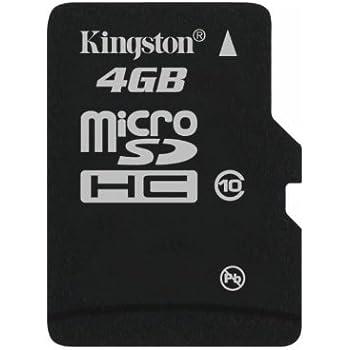 Kingston SDC10/4GBSP - Tarjeta microSD de 4 GB (Clase 10, UHS-I), Negro