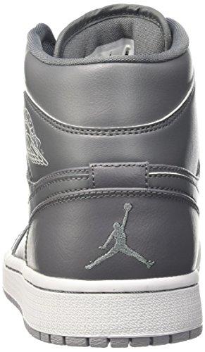 Nike Air Jordan 1 Mid Scarpe da ginnastica, Uomo Grigio (Cool Grey/Cl Gry-White-Wlf Gry)