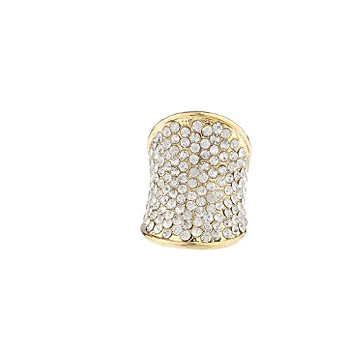 l Strass Ebnen Gold Ton Glamour Ring (Strass Halloween-pins)