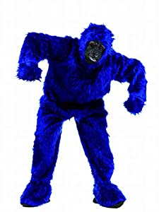 Limit Sport - Disfraz de peluche gorila para adultos, color azul, talla L (MA067Z)