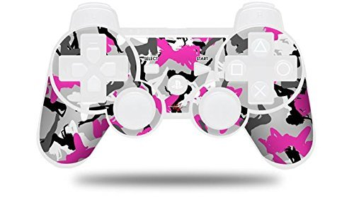 Sony PS3 Controller Decal Style Skin - Sexy Girl Silhouette Camo Hot Pink Fuschia (CONTROLLER NOT INCLUDED) by WraptorSkinz