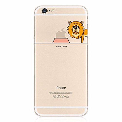 Hartschale Hochwertiger Weich iPhone 4/4S–Hund Dog Pug Chihuahua Bull witziges Design Swag Motiv Design Case + mit Displayschutzfolie chow