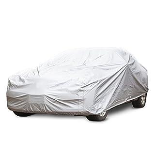 Autoabdeckung Vollgarage für Winter & Sommer | silber | passende Größe wählbar (Größe L: 482x177x119cm)